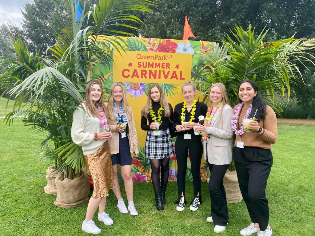 Megan, Jess, Kiri, Lucy, Polly and Ameesha go to the Green Park Summer Carnival